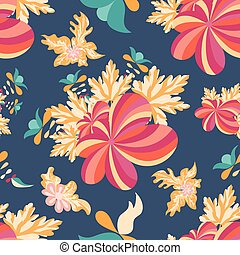 flowers seamless vector pattern for your design