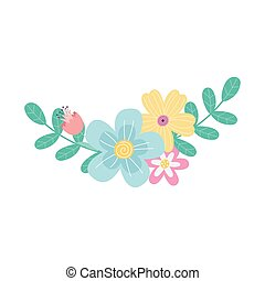 flowers season spring nature decoration icon