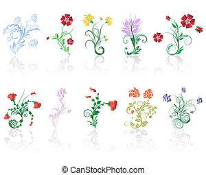 flowers set