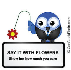 Flowers sign