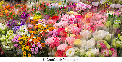 Flowers sold in a variety of colors.