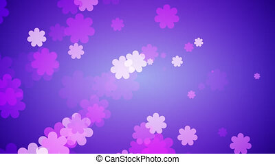 Flowers Spreading Out On Gradient Background. Spring Concept