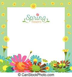 Flowers Spring Season Frame