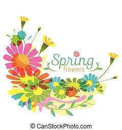 Flowers Spring Season Heading