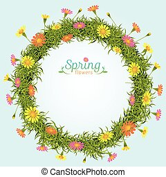 Flowers Spring Season Wreath