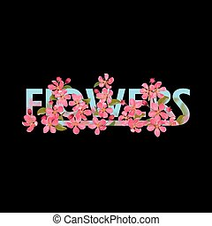 Flowers t-shirt fashion print with pink cherry blossom