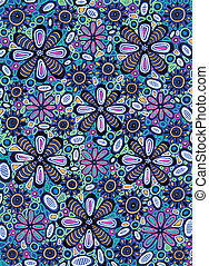 Flowers texture - Freehand drawing. Art is created by...