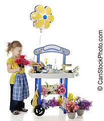 Flowers Tickle My Nose - An adorable preschooler scrunching...