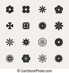 Flowers Vector Icon Set
