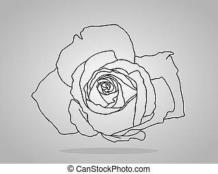Flowers . Vector illustration,