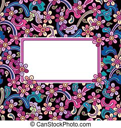 Flowers vector seamless pattern.