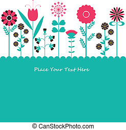 flowers., vektor, abbildung