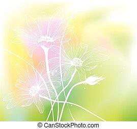 flowers., watercolor