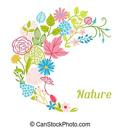 flowers., wiosna, tło