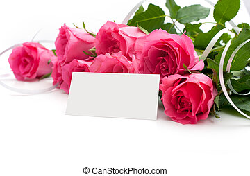 Flowers with a blank tag