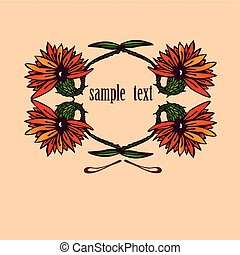 flowers with sample text