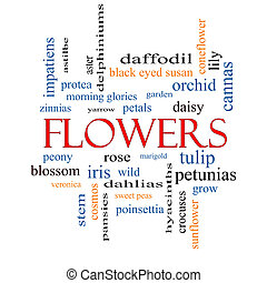 Flowers Word Cloud Concept