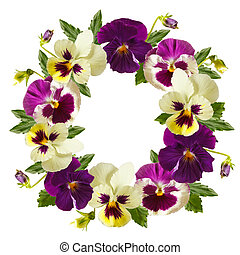 Flowers wreath.