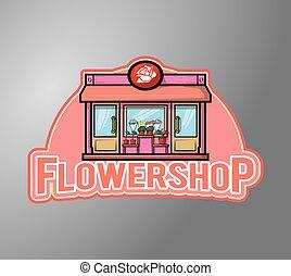 Flowershop Illustration design