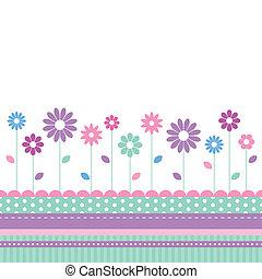 flowery meadow greeting card
