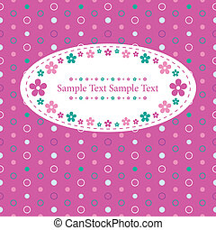 flowery polka dot greeting card