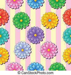 Flowery seamless background 5 - vector illustration.