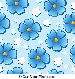 Flowery seamless background 7 - vector illustration.