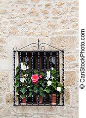 Flowery window - An old flowery window
