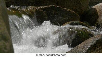 flowing and splashing water - Native Camera Output, 4K,...