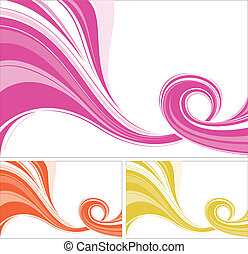 flowing background - abstract flowing lines background.