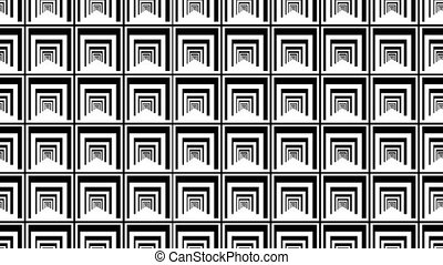 """""""Flowing black and white squares illusion"""" - """"3d rendering ..."""