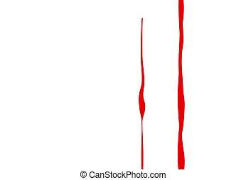 Flowing blood for horror, thriller, violence concept vector illustration