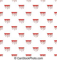 Flowing blood pattern