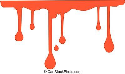 Flowing blood trail