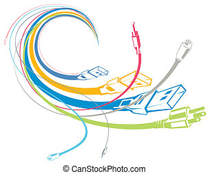 flowing cables