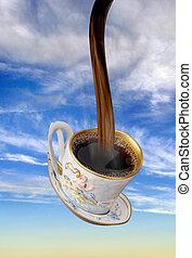 Flowing Coffee.