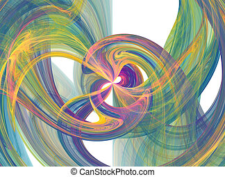 Flowing color burst - Flowing colorful smoky burst
