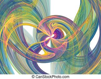 Flowing color burst - Flowing colorful smoky burst
