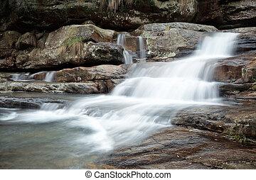 flowing creek on the rocks