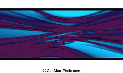 Flowing Deep Blue Abstract Loop