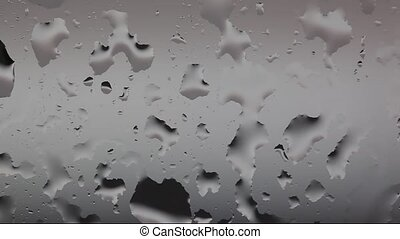 Flowing down water drops on grey background HD 1280x720