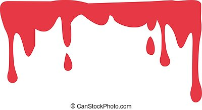 Flowing dripping Blood