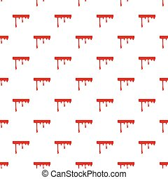 Flowing drop of blood pattern seamless repeat in cartoon...