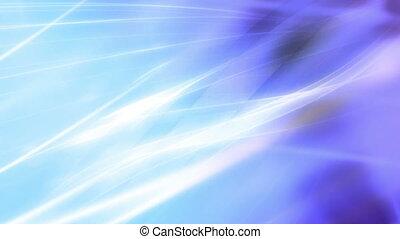 Flowing energy loop purple and blue