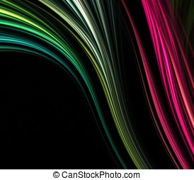 Flowing Fibers Abstract - Artistic Abstract Background -...