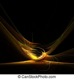 Flowing Gold Abstract - Curving golden motion effect...