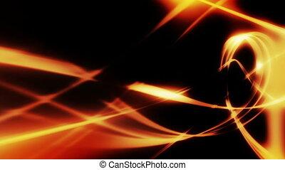 Flowing golden wisps loop