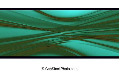 Flowing Green Abstract Loop
