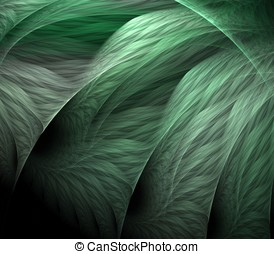 Flowing Greens Abstract - Artistic Abstract Background -...