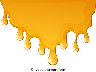 flowing honey background - illustration of flowing honey ,...